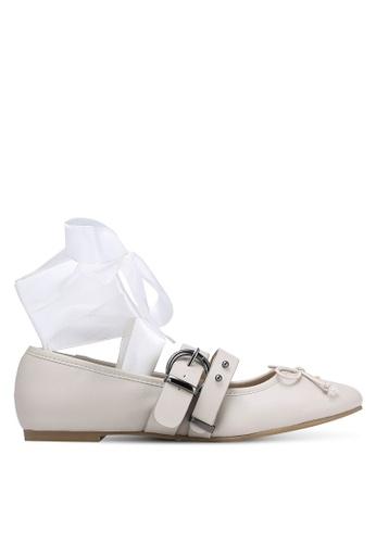 ZALORA 灰色 花邊平底鞋 0BBB8ZZ4BE235BGS_1