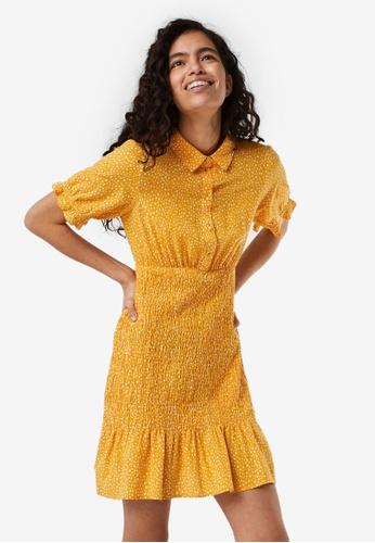 Vero Moda orange and yellow Smock Mini Dress BD129AAD13BE7CGS_1