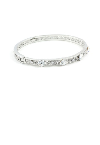 Glamorousky silver Antique Bangle with Silver Austrian Crystals B7B1CAC0335CDBGS_1