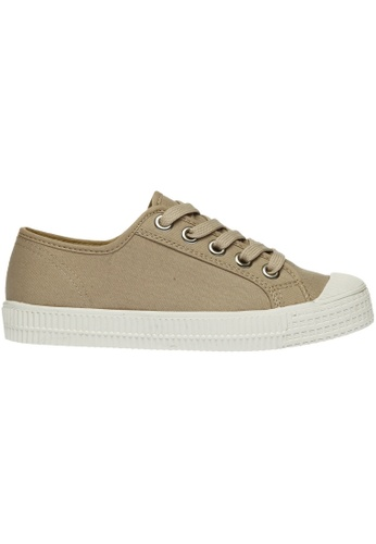 paperplanes beige Paperplanes-1350 Casual Low Top Flats Canvas Sneakers Shoes US Women Size PA355SH29PHQSG_1