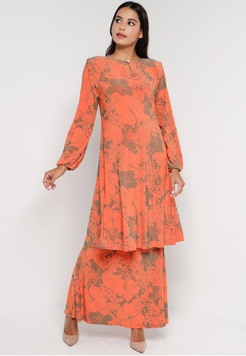 Zuco Fashion orange Mini Kurung Classic Aline Cut B1B80AA0EE832AGS_1