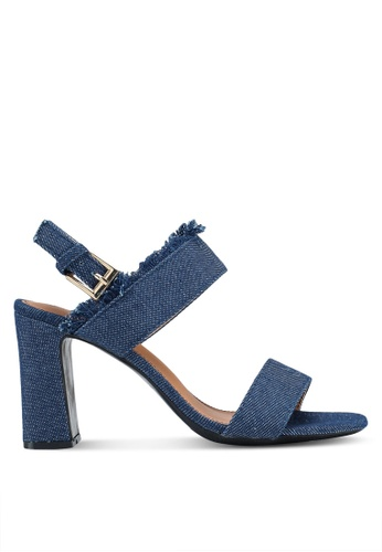 Something Borrowed blue Double Strap Heels With Fringe Details E7909SH1314ED0GS_1