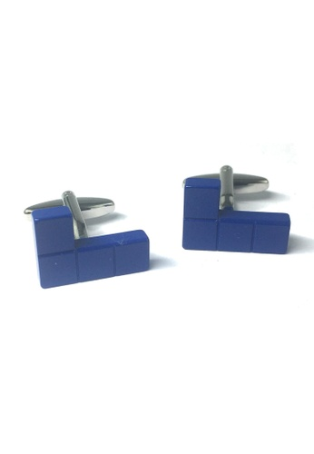 Splice Cufflinks Retro Computer Block Game Blue Cufflinks SP744AC47AAUSG_1