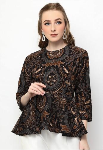 Adinata Batik brown JOVANKA GANENDRA BLOUSE BATIK 2E8AAAAC2D4377GS_1