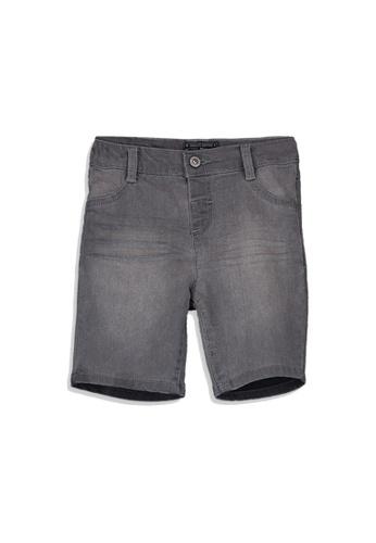 LC Waikiki grey Regular Fit Basic Baby Boy Denim Shorts 1D535KA5E55D2DGS_1