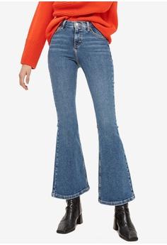 521456656dfc TOPSHOP blue Petite Mid Blue Flared Jamie Jeans 2D23EAA90C8133GS 1
