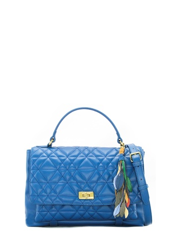 SEMBONIA blue SEMBONIA Synthetic Leather Satchel Bag (Blue) 5F479ACD1B3064GS_1