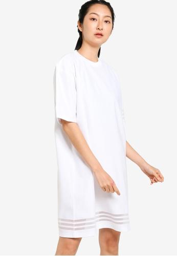 ADIDAS 白色 tee dress C9A5DAAF751932GS_1