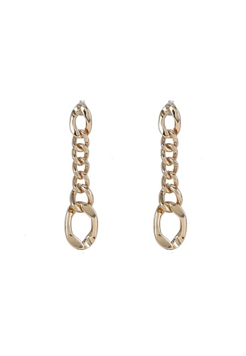 niko and ... gold Linked Chain Earrings 68397AC44765B9GS_1
