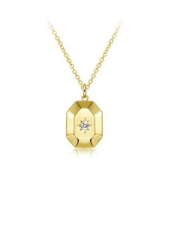 Glamorousky white Fashion and Simple Plated Gold Geometric Pendant with Austrian Element Crystal and Necklace BC558ACD3751E5GS_1
