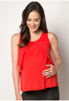 Sleeveless Maternity Top