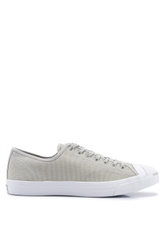 4e372ddbdbe9 Converse grey and white Jack Purcell Ox Heavy Canvas Sneakers  70FB1SH612110BGS 1