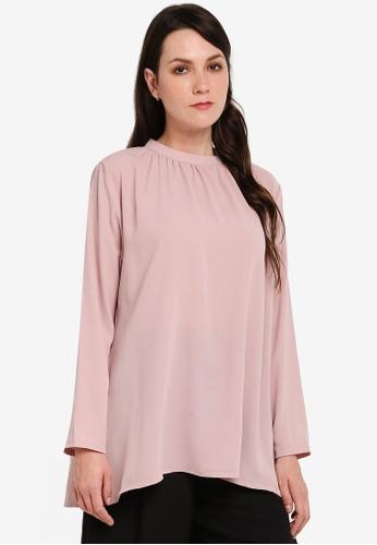 BYN pink Muslimah Blouse 9B2B5AABBFA4F9GS_1