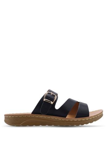 NOVENI 海軍藍色 Strappy Sandals CDC41SH98F9E36GS_1