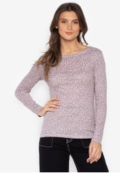 MARKS & SPENCER grey Printed Long Sleeve Crew Neck Top 84805AA8FC8F3CGS_1