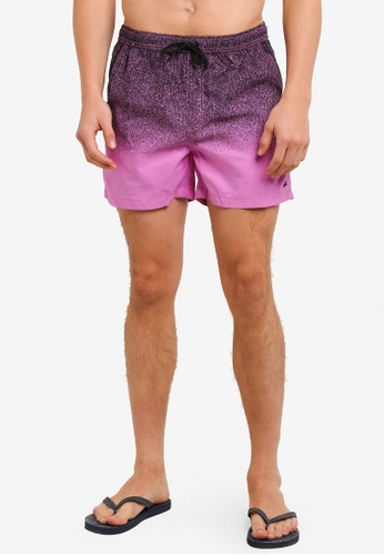 Factorie purple and multi Jose Poolboy Shorts FA880AA0SAARMY_1