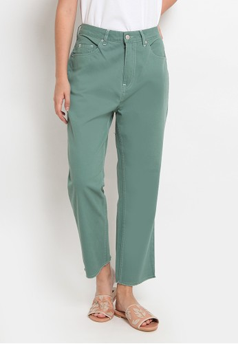 et cetera green Denim Crop Pants 280A1AA7113D20GS_1