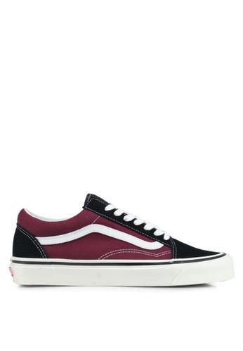 VANS black and red Old Skool 36 DX Anaheim Factory Sneakers VA142SH0SWV0MY_1