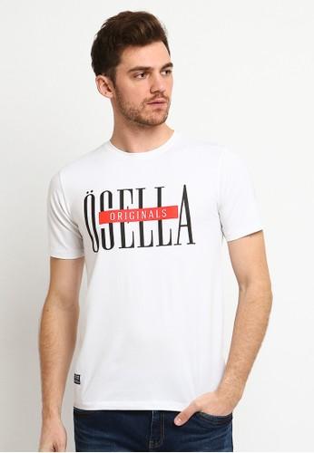 Osella white Osella Baju Pria Tshirt Lengan Pendek Print White 2519AAAE4DDC9FGS_1