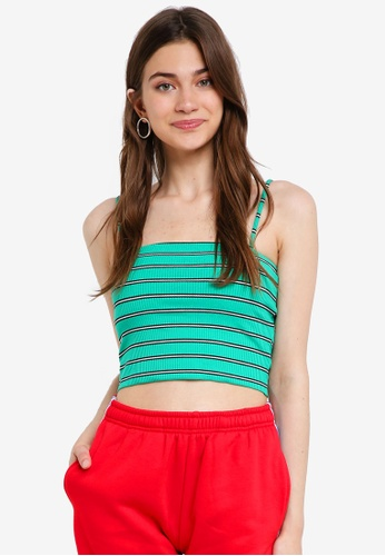 Factorie green Ribbing Cami Top 2F420AA687F964GS_1