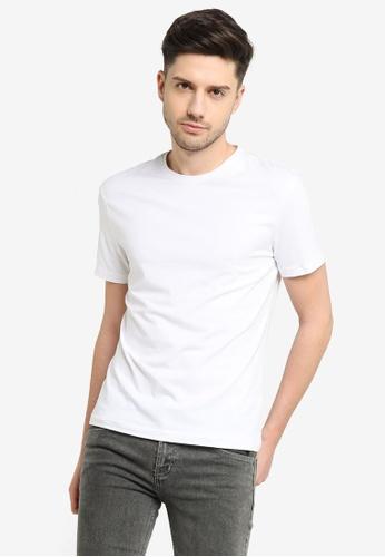 H&M white Round-necked T-shirt in soft jersey 87922AAFF91334GS_1