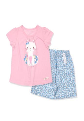 Organic mom pink Organic Cotton  Lisa Kitty Pajamas CC654KAA2DD5F4GS_1