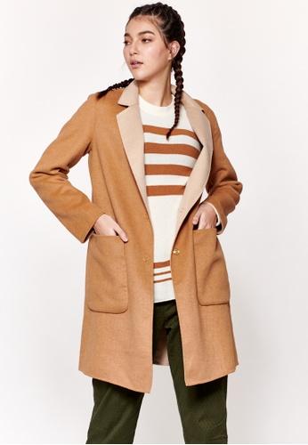 Sisley brown Reversible Coat A2C87AA8B69F6CGS_1