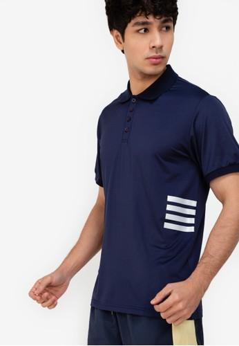 ZALORA ACTIVE navy Side Stripes Detail Polo Shirt 5DD4BAA1627BAFGS_1
