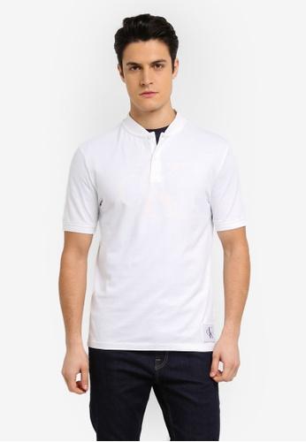 Calvin Klein white Primo 2 Regular Polo Shirt - Calvin Klein Jeans BE60DAA95F3BFBGS_1