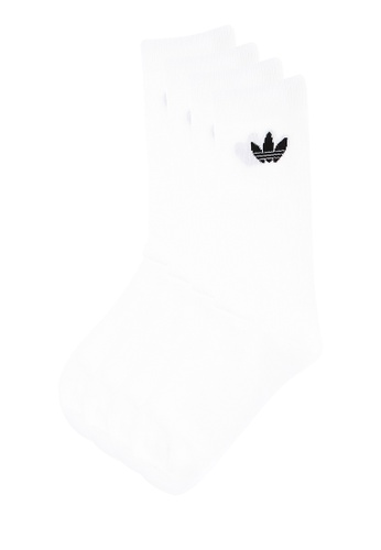 1d092be6a Shop adidas adidas originals Thin Trefoil Crew Socks 2 Pairs Online on  ZALORA Philippines