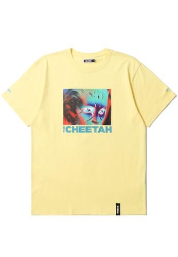 BLOCKAIT yellow X Wonder Woman The Cheetah tee A4A65AA19F5768GS_1