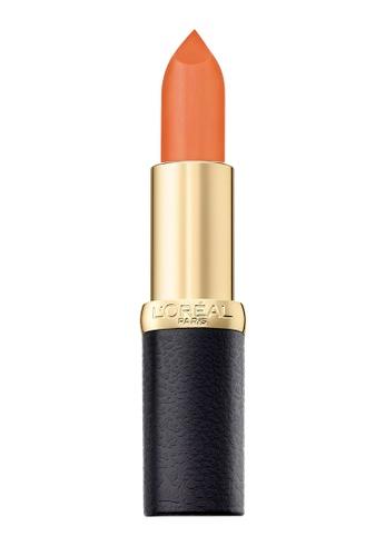 L'Oréal Paris brown and red L'Oreal Paris Color Riche Matte 203 Peachy Brown 8EE23BEE411718GS_1
