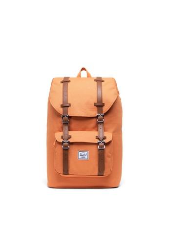 Herschel orange Herschel Unisex Little America Mid-Volume Backpack Papaya - 17L A160FAC1B214EDGS_1