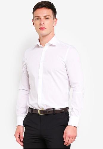 OVS white Slim Fit Long Sleeve Formal Shirt F7346AA5D1F2B2GS_1