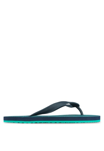 24:01 green and navy Geometric Flip Flops 24841SH18AVPPH_1