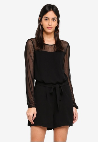 Vero Moda black Ida Playsuit 1504FAA705F192GS_1