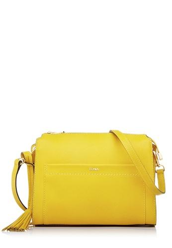 BONIA yellow Yellow Delilah Crossbody Bag M FE76EAC03D23FCGS_1