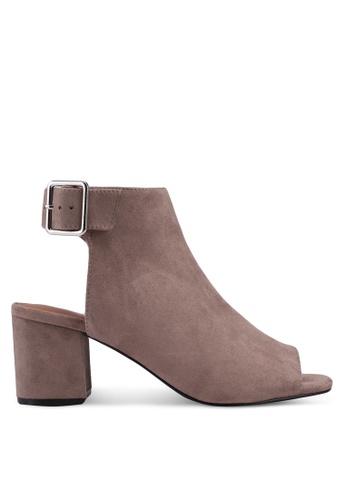 TOPSHOP beige Danni Buckle Shoe Boots 748CASHAD81DCCGS_1