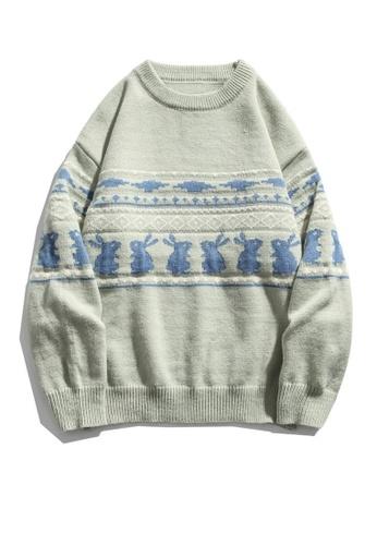 Twenty Eight Shoes Retro Cartoon Rabbit Knit Sweater HH0585 EF4B4AAD905E38GS_1