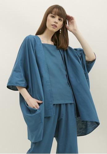 NOA EVERYDAY blue NOA Cardigan Kanna - Deep Blue 5E58EAA5CEA6F2GS_1