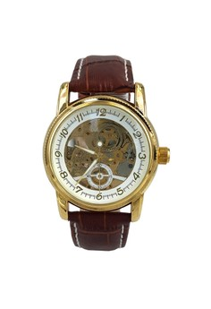 Men's Mechanical Dial Analog Business Leather Band Wrist Watch
