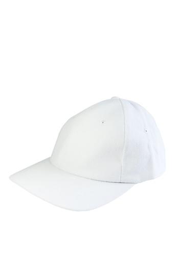 HYPE MNL white Plain Baseball Cap 3B940ACBE291DFGS_1
