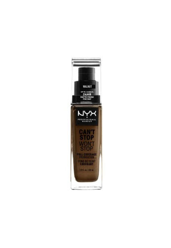 NYX Professional Makeup brown NYX Professional Makeup Can't Stop Won't Stop 24HR Foundation - WALNUT 9569BBE00FF1D8GS_1