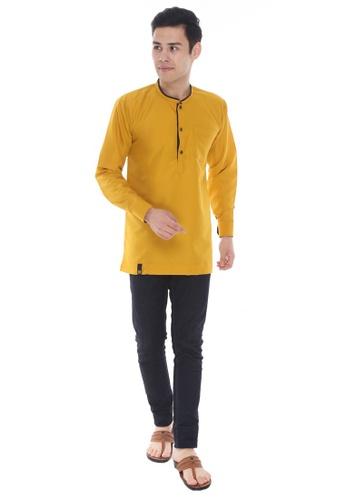 Amar Amran yellow Kurta Al Hariz 7E086AAD7BB383GS_1