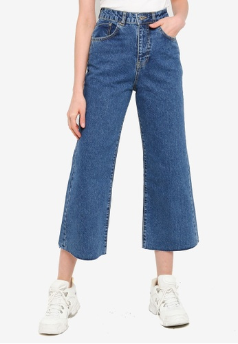 The Ragged Priest blue Grip Cropped Skater Jeans 7560EAA06704F2GS_1