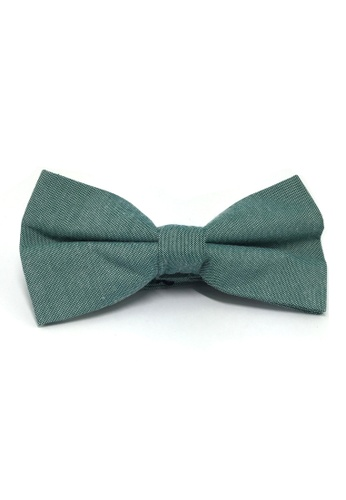 Splice Cufflinks Lucid Series Emerald Green Polyester Fabric Bow Tie SP744AC79QQMSG_1