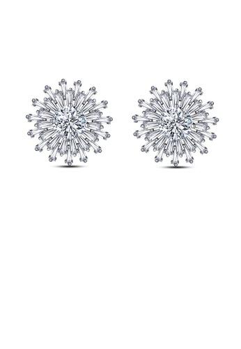 Glamorousky white Fashion Snowflake Earrings with White Cubic Zircon 530F5AC8048C01GS_1