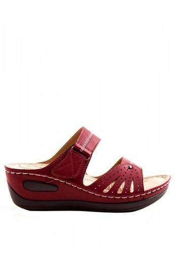 Otto red Velcro Strap Sandals OT407SH0ILH7PH_1