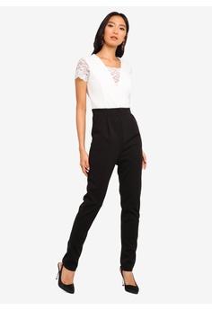 a6d9a57a71 WALG Lace Cap Sleeve Jumpsuit S  73.90. Sizes 8 10 12
