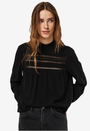Vero Moda black Gidget Long Sleeve Top 8218CAA49C2164GS_1